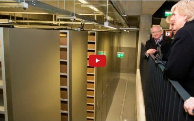 Over 22km of Bruynzeel Electronic Mobile shelving installed at the new Military Archives, Cathal Brugha Barracks in Dublin
