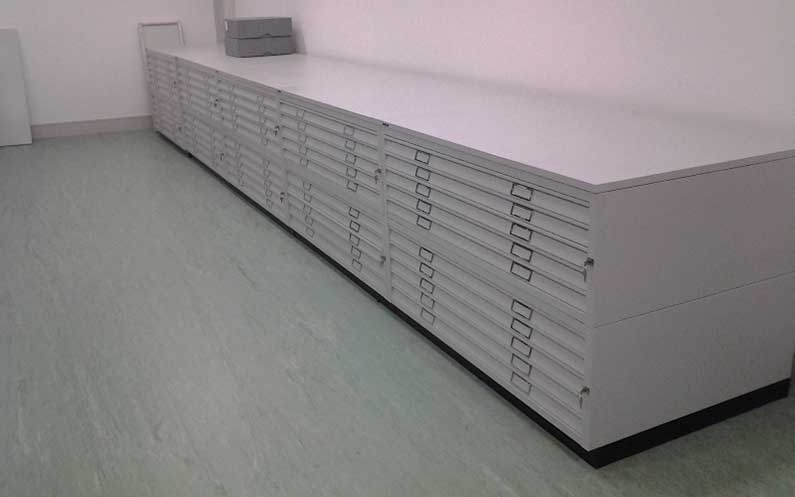 Drawers - National Library of Ireland - bruynzeel Storage Systems